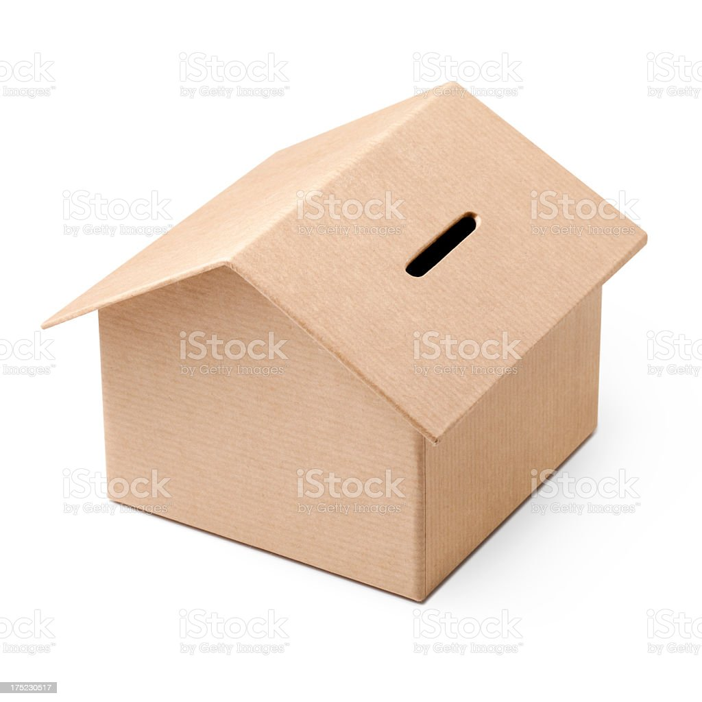 House piggy bank stock photo