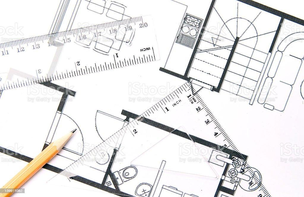 House plan stock photo