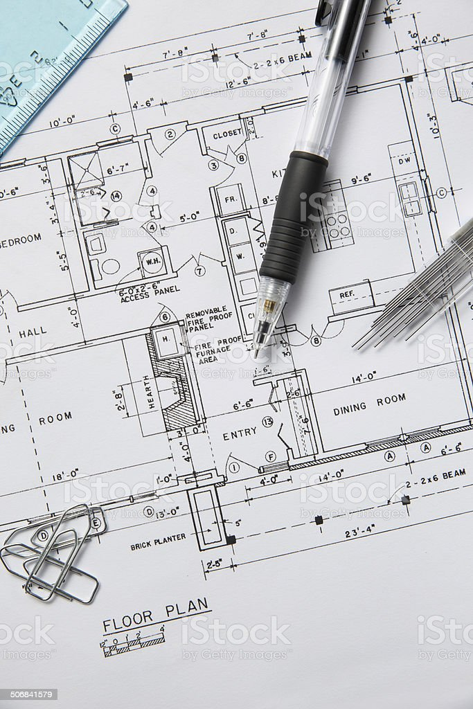 House Plan royalty-free stock photo