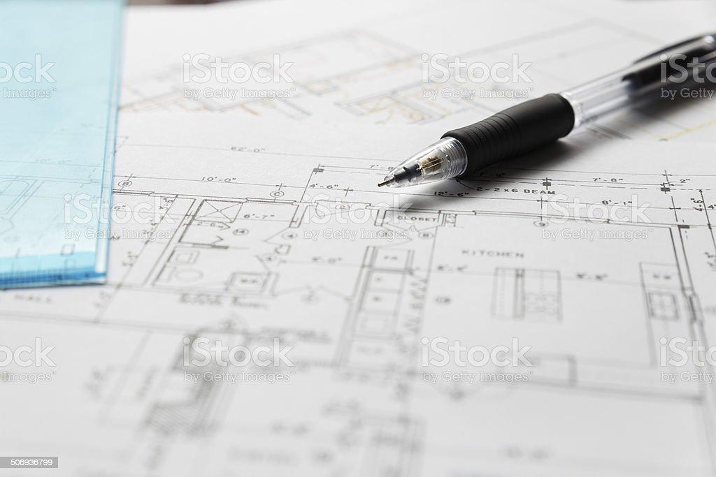 House Plan royalty-free stock photo