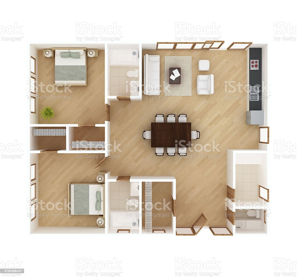 House plan top view stock photo