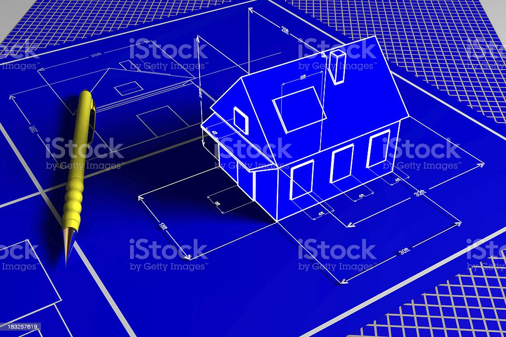 House planing royalty-free stock photo