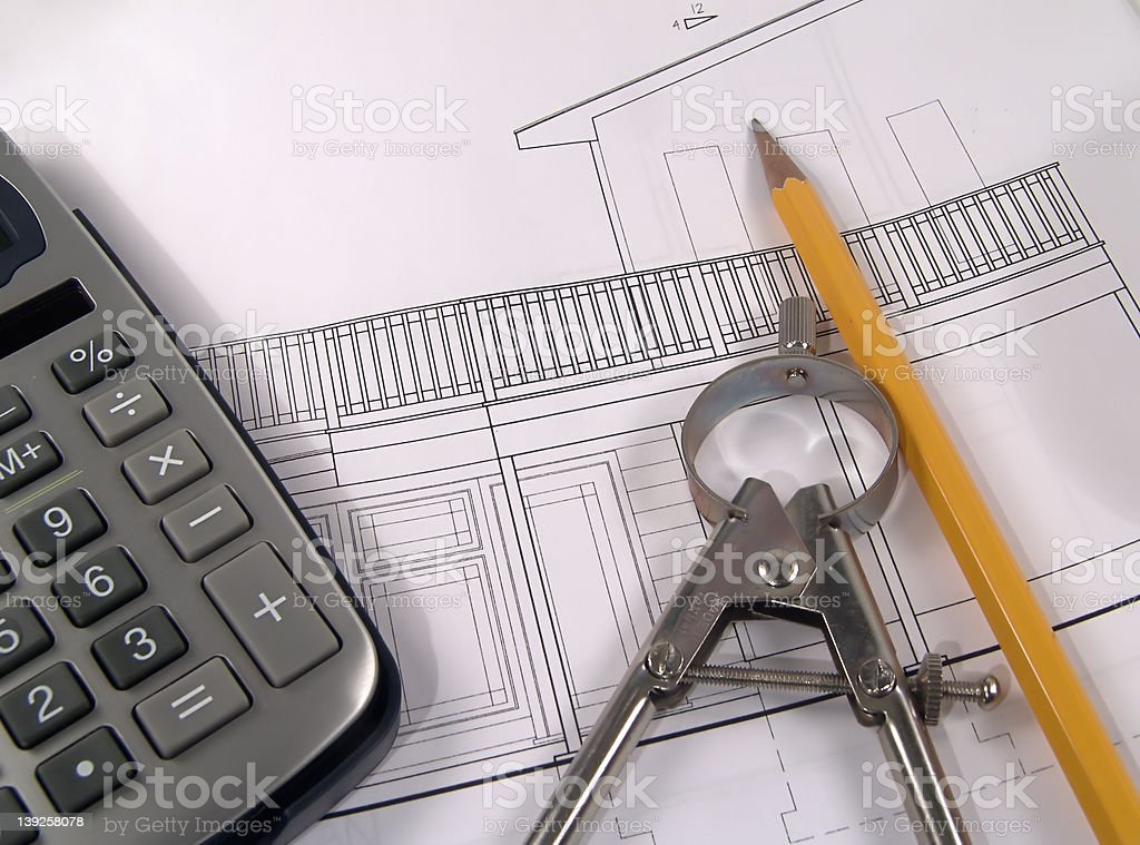 House Plans 2 royalty-free stock photo