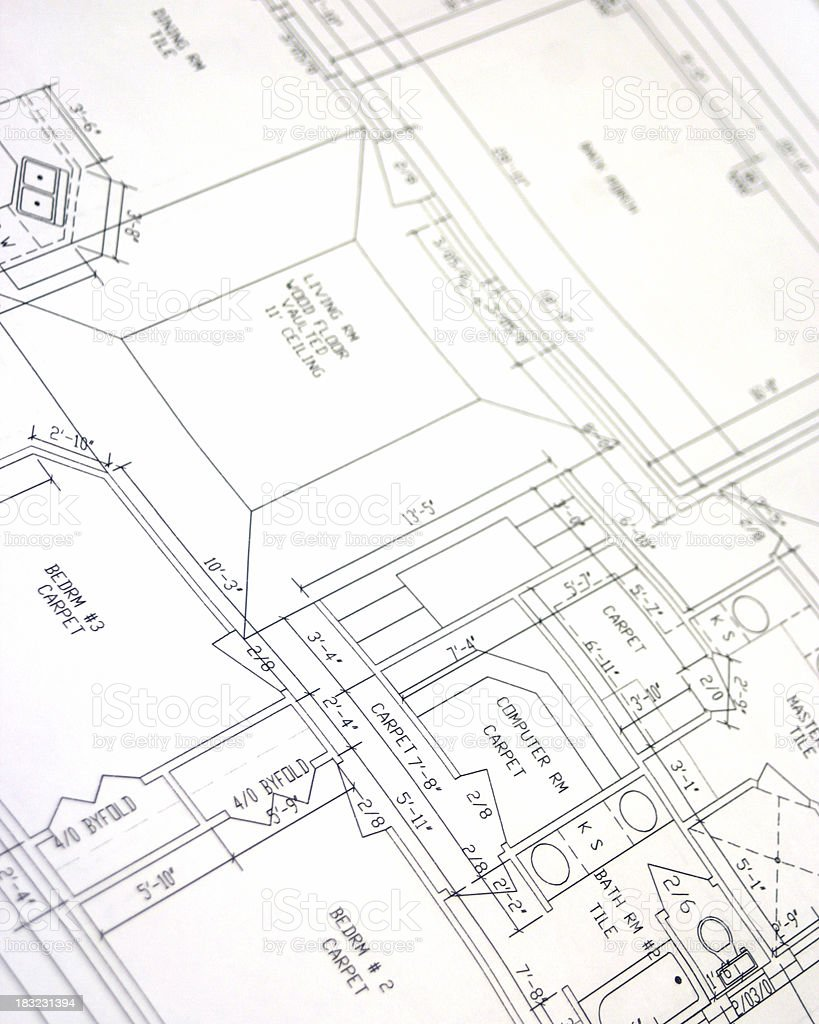 House Plans - Blueprints royalty-free stock photo