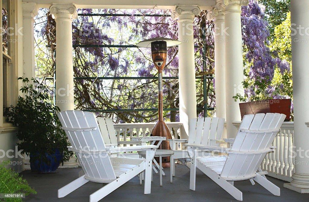 House Porch stock photo