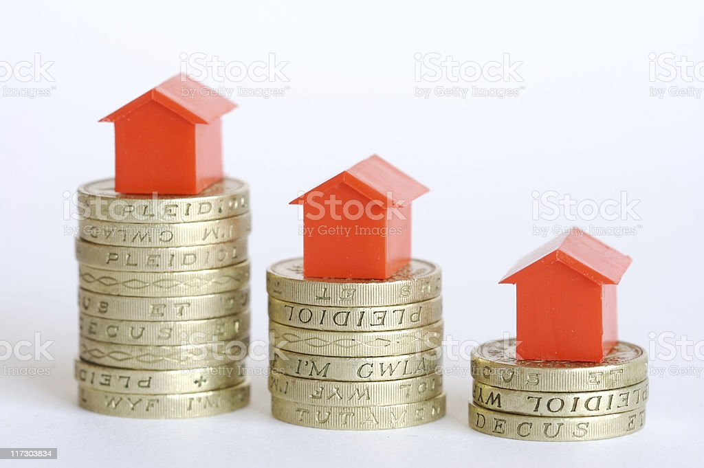 House price falling stock photo
