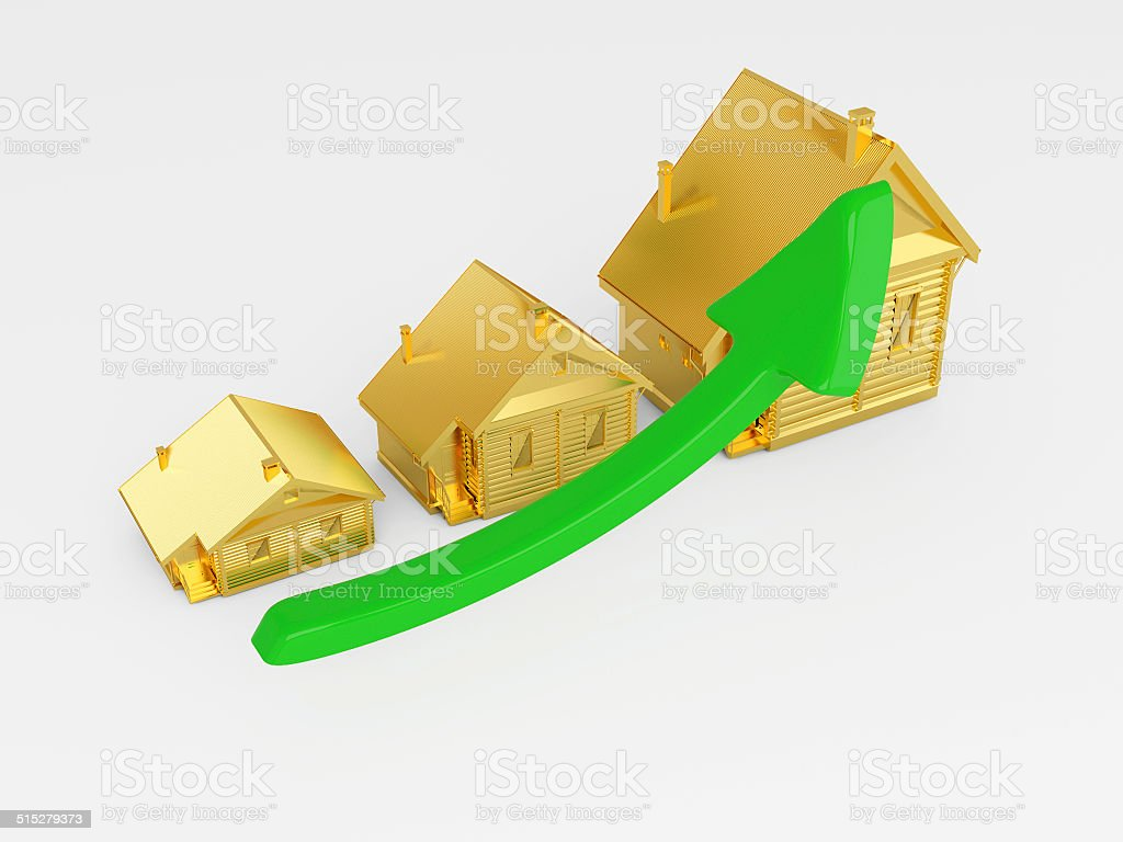 House Price Increasing in Value stock photo