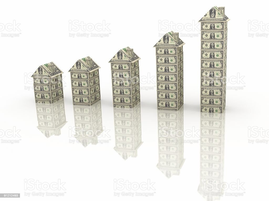 House Prices Chart stock photo