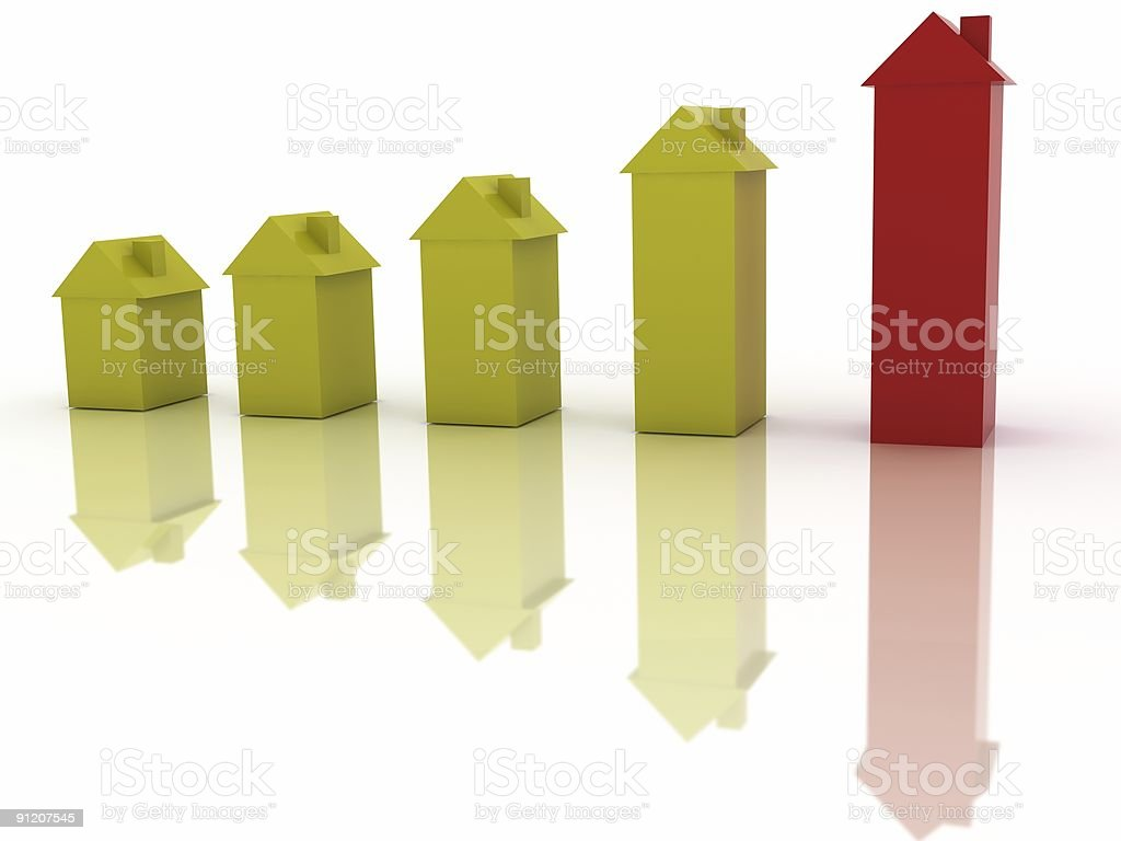House Prices Graph royalty-free stock photo