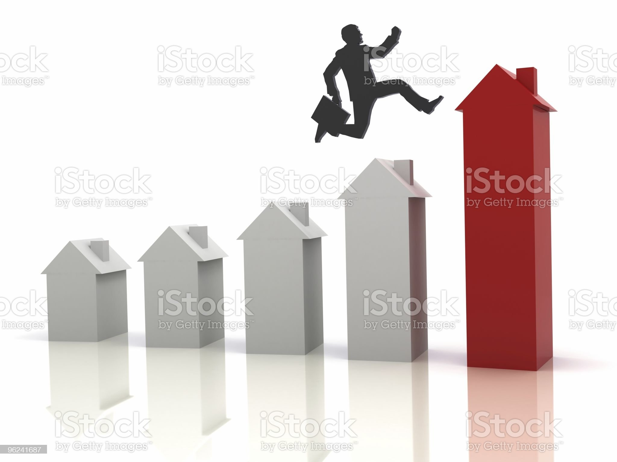 House Prices Growth royalty-free stock photo
