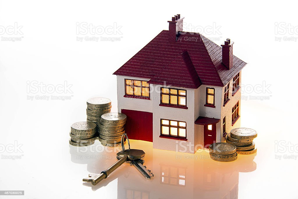 House Prices Savings Investments and fuel costs royalty-free stock photo