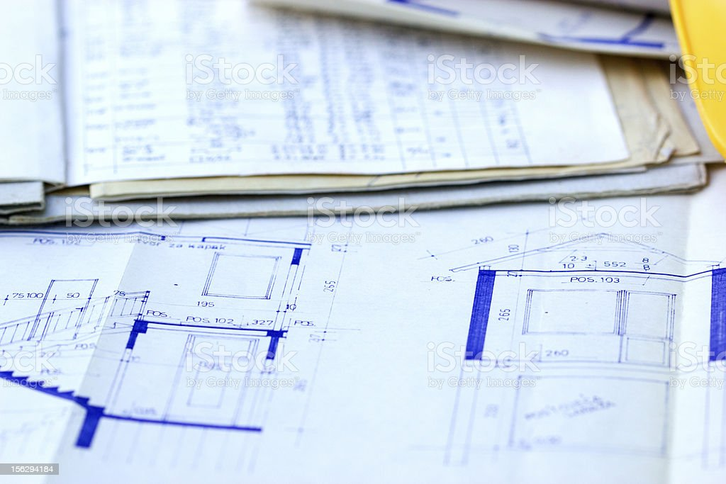 House project and specification royalty-free stock photo