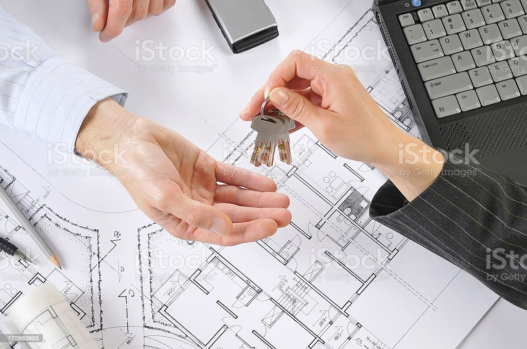 House project, Client, new investments, blueprints royalty-free stock photo