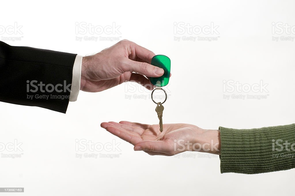 House purchase key transfer royalty-free stock photo