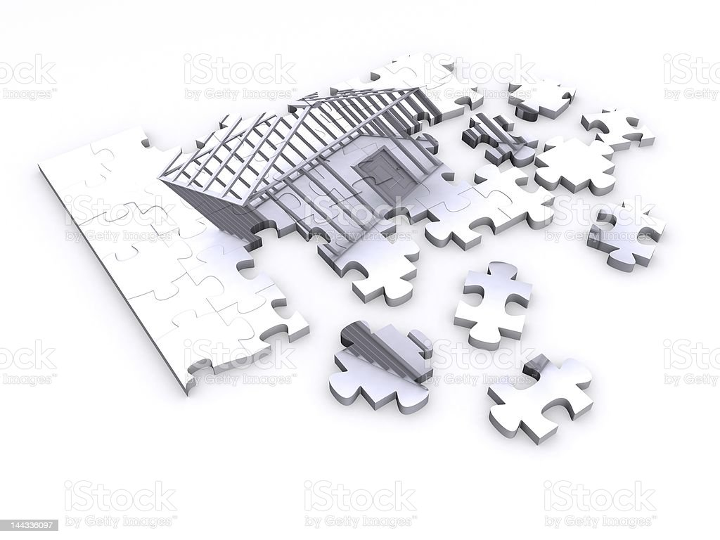 house puzzle royalty-free stock photo