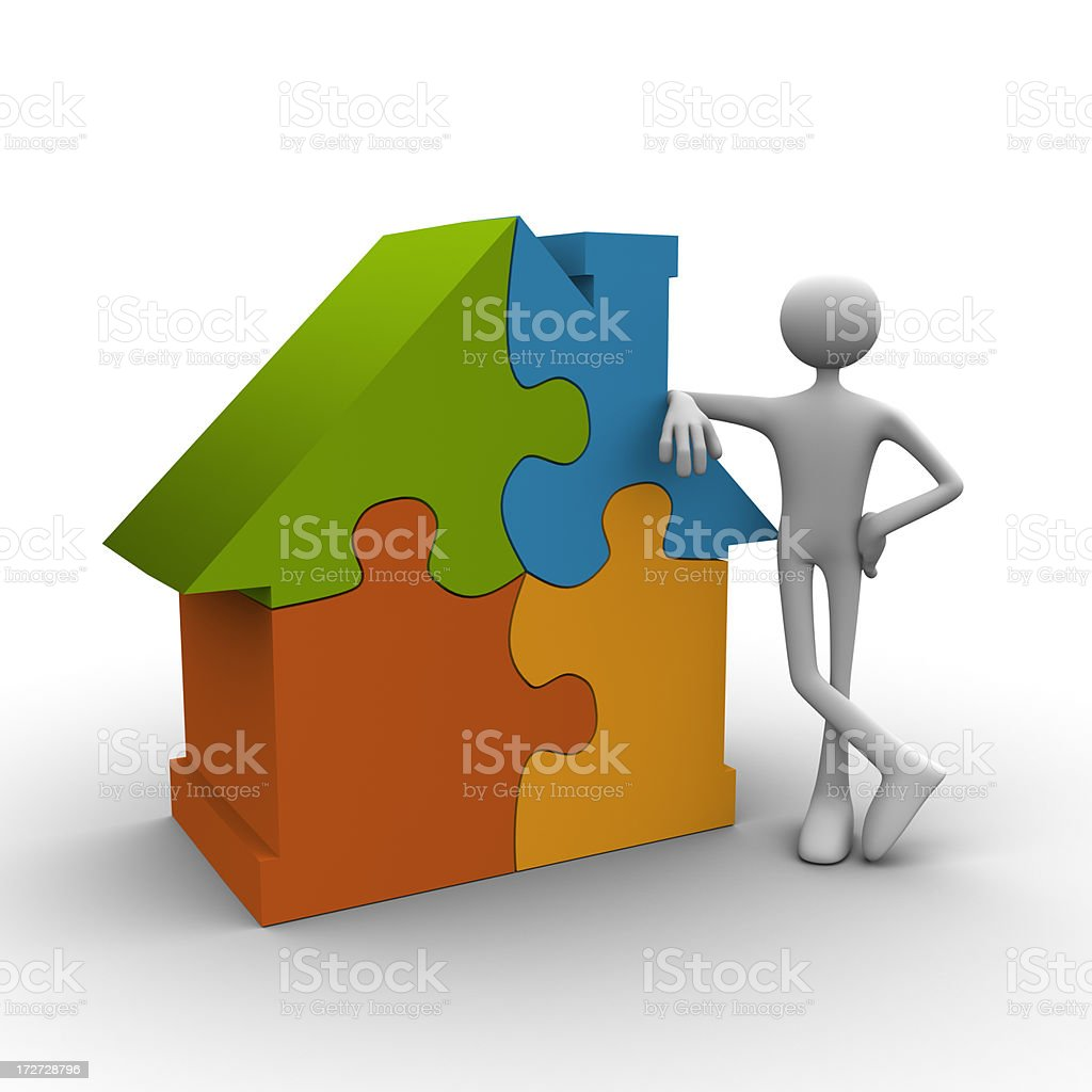 House puzzle solved royalty-free stock photo