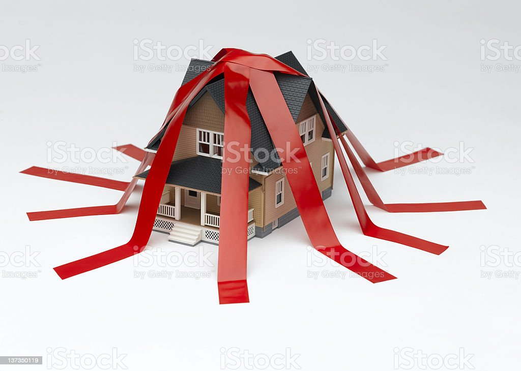 House Red Tape stock photo