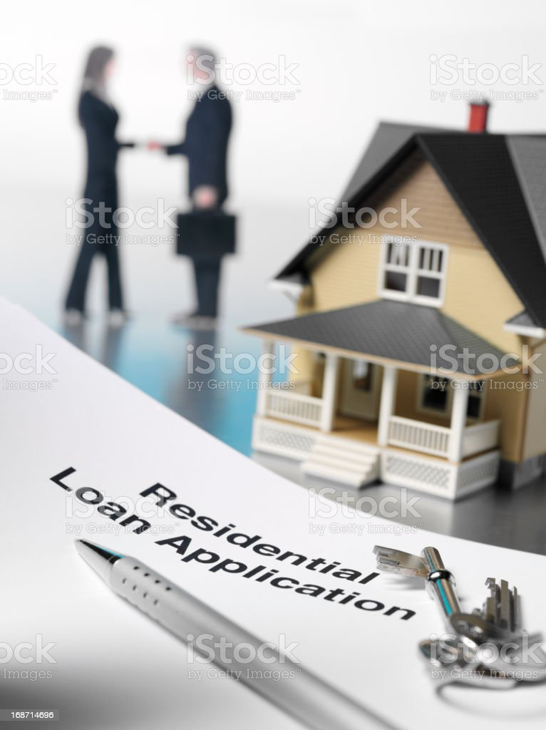 House Residential Loan Application royalty-free stock photo