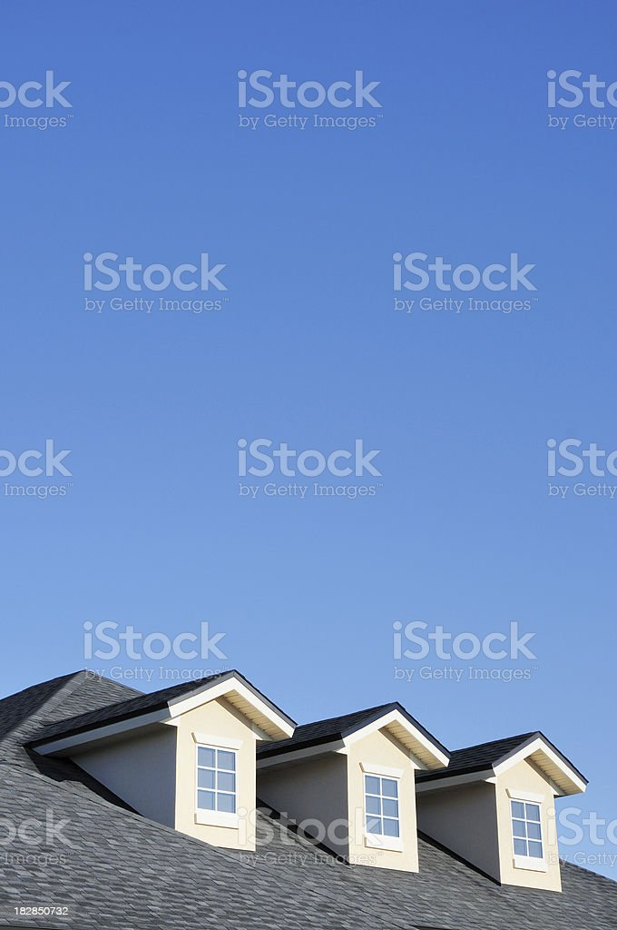 House Roof and Dormer Window Detail stock photo