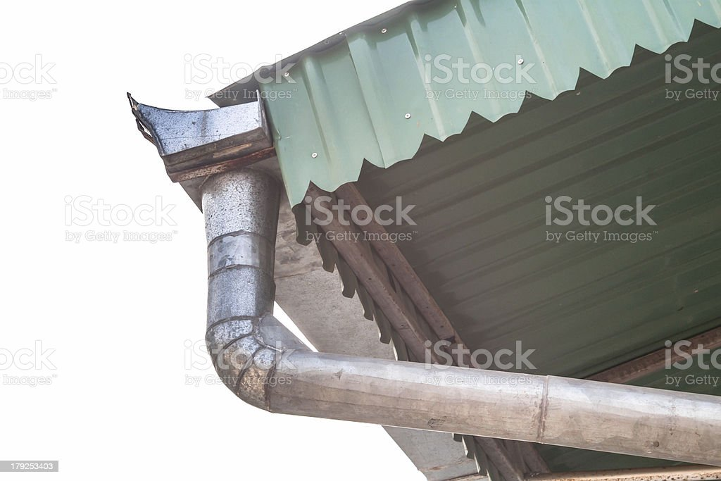 House roof gutter royalty-free stock photo