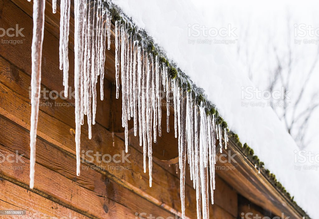 house roof icicles royalty-free stock photo