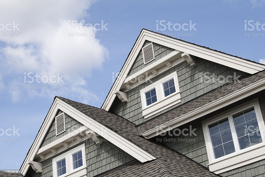 House roof peaks stock photo