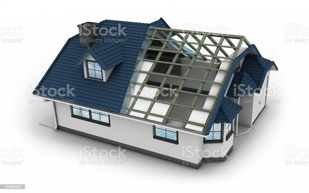 House - Roof Structure royalty-free stock photo