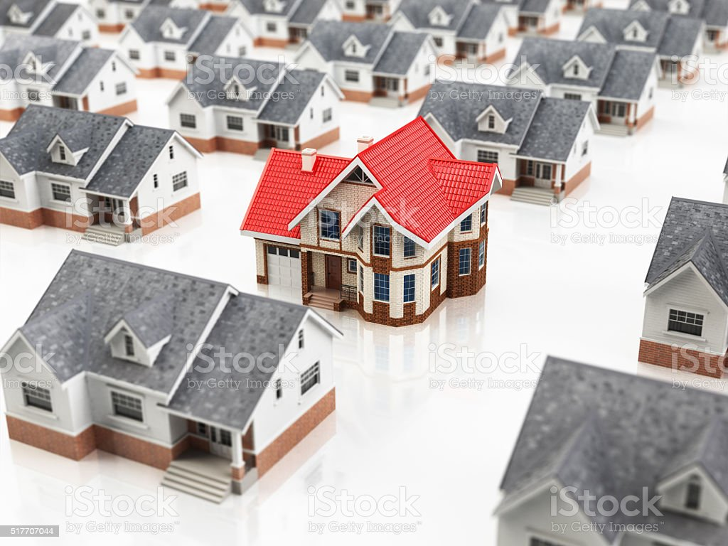 House search. Choice of the home dream. Real estate concept stock photo