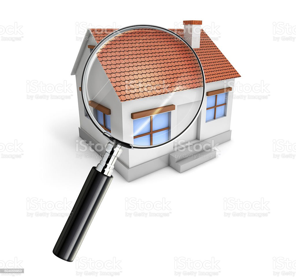 house searching stock photo