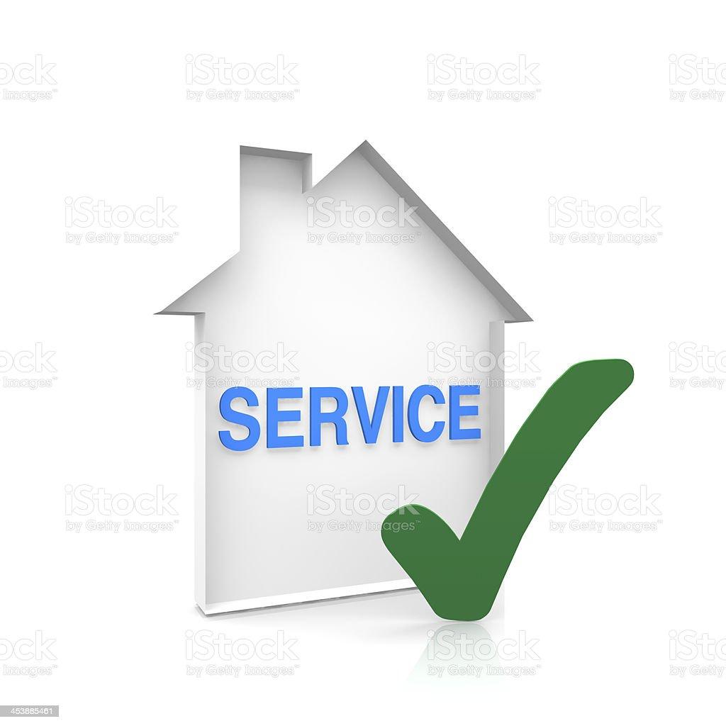 House service royalty-free stock photo