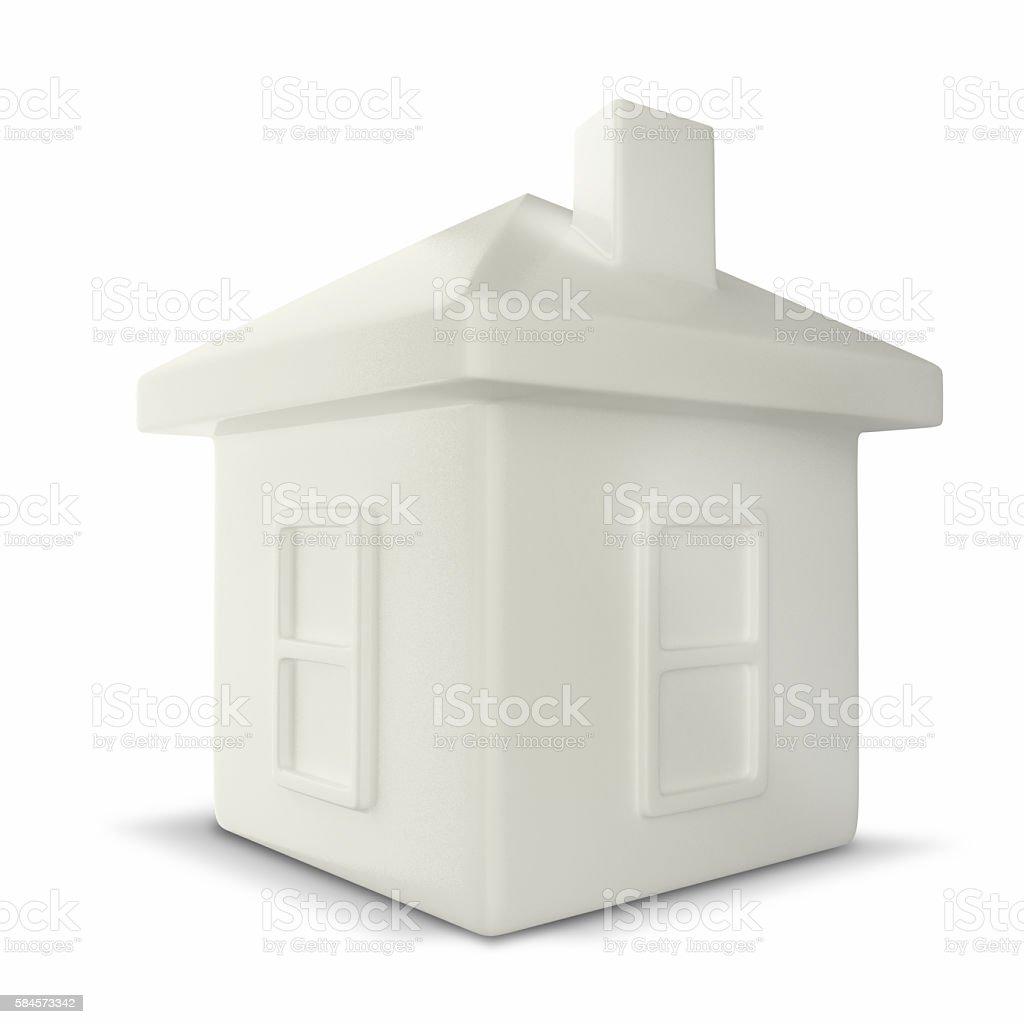 house shaped money box stock photo