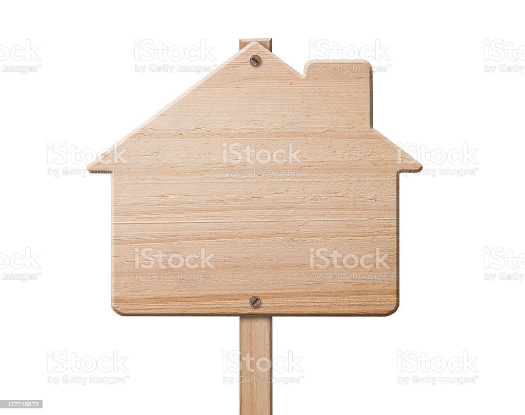 House sign made out of wood, isolated. royalty-free stock photo