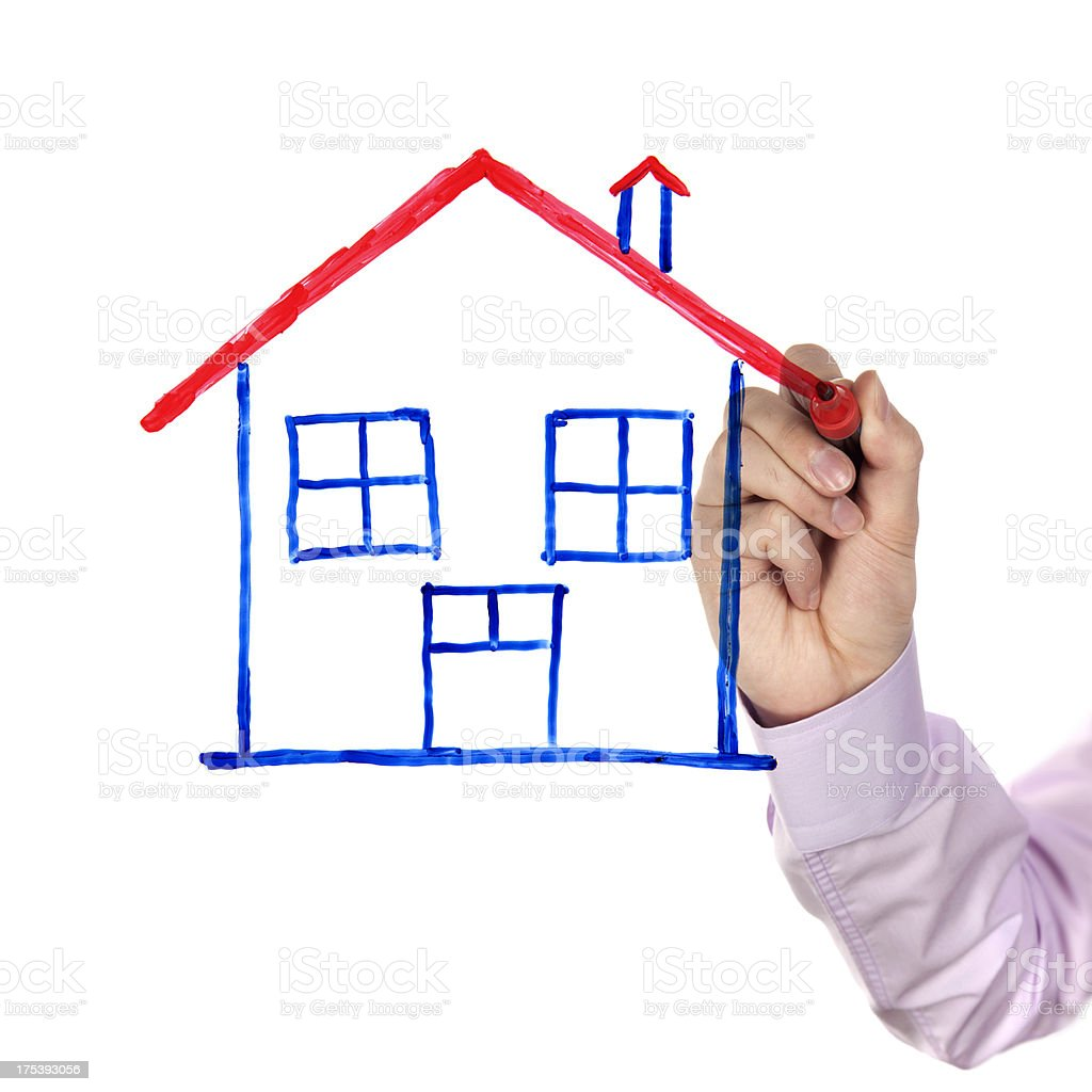 House sketch royalty-free stock photo