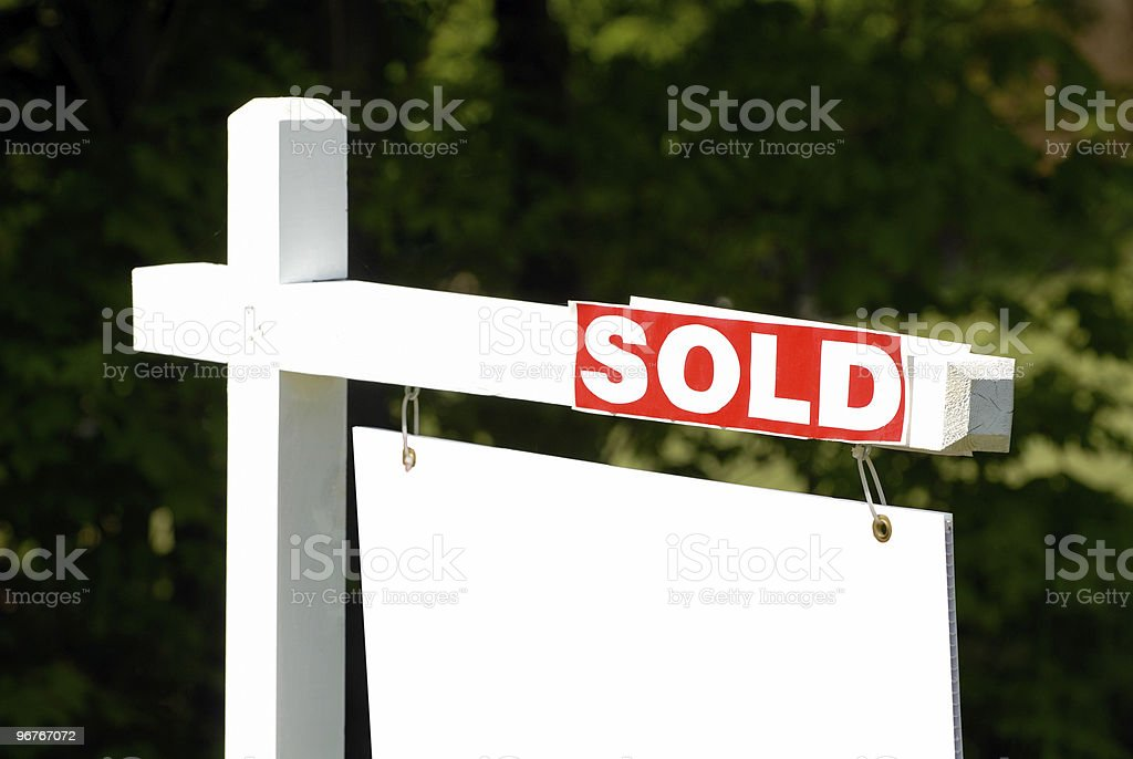 House Sold stock photo