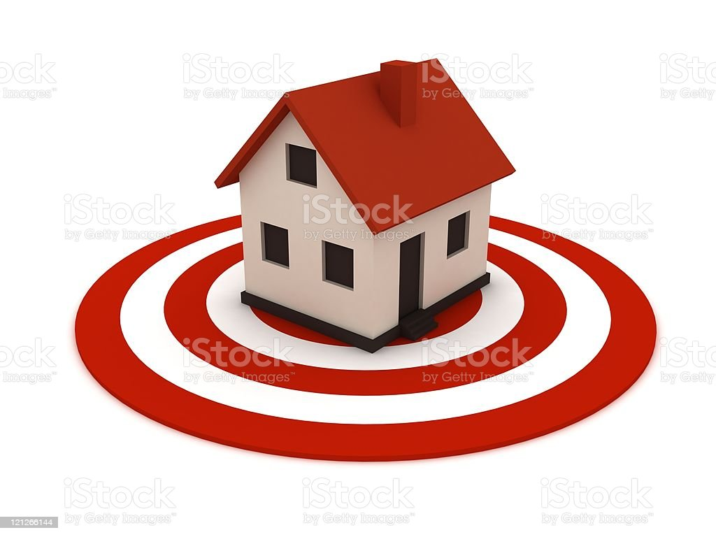 House Target royalty-free stock photo