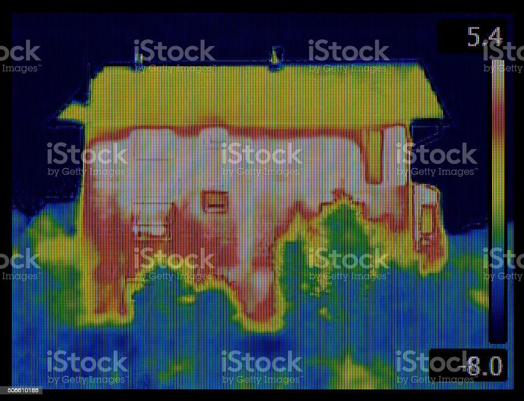 House Thermogram stock photo