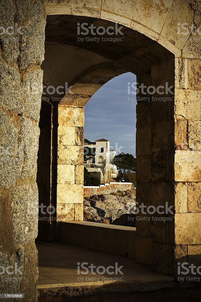 House thru the hole royalty-free stock photo