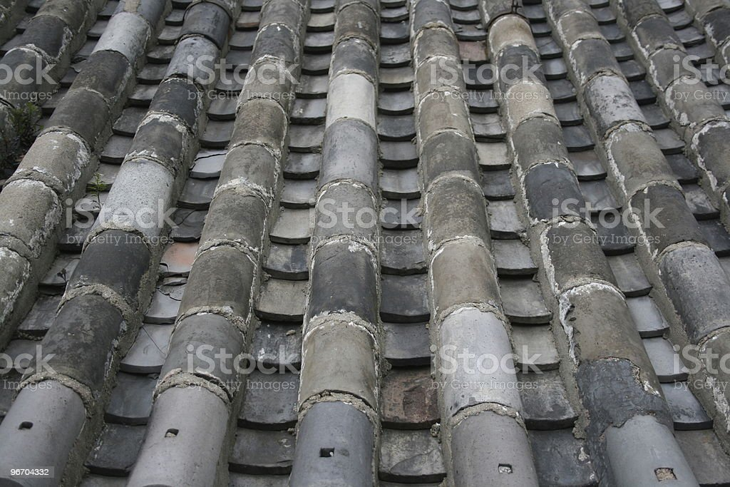 House Tile Roof royalty-free stock photo