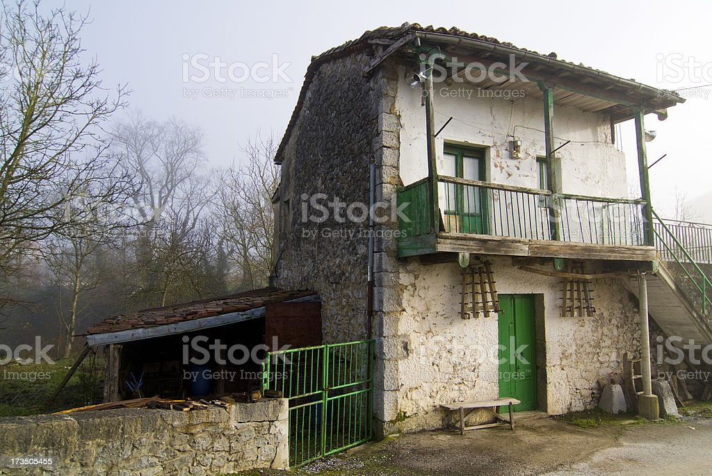 House tillage tools Branches of the Victory, Cantabria. Spain. royalty-free stock photo