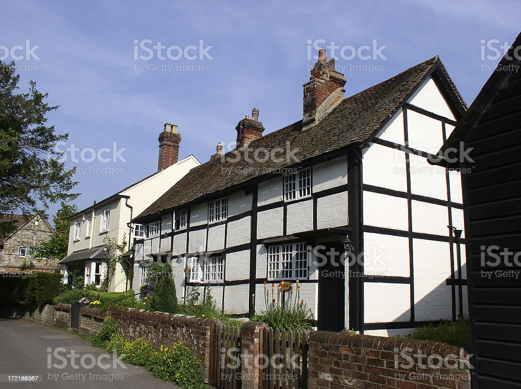 House - timber-framed old dwelling stock photo royalty-free stock photo
