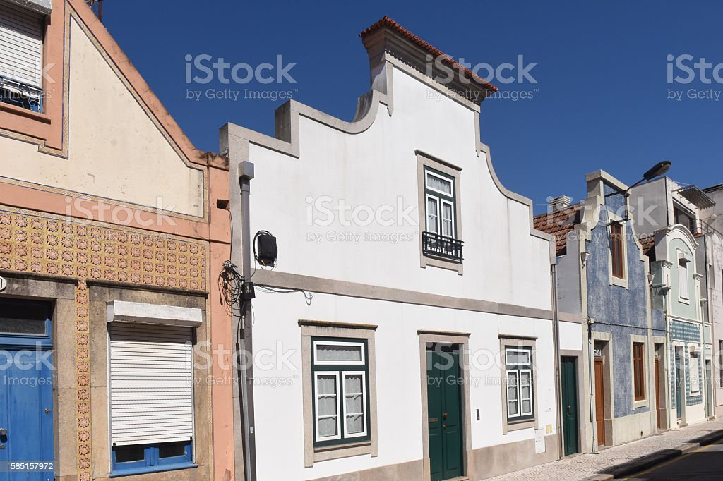 House tradicional Aveiro, Portugal stock photo