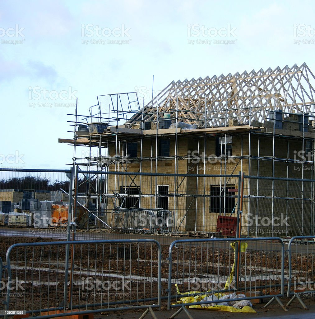 house under construcrtion 11 royalty-free stock photo