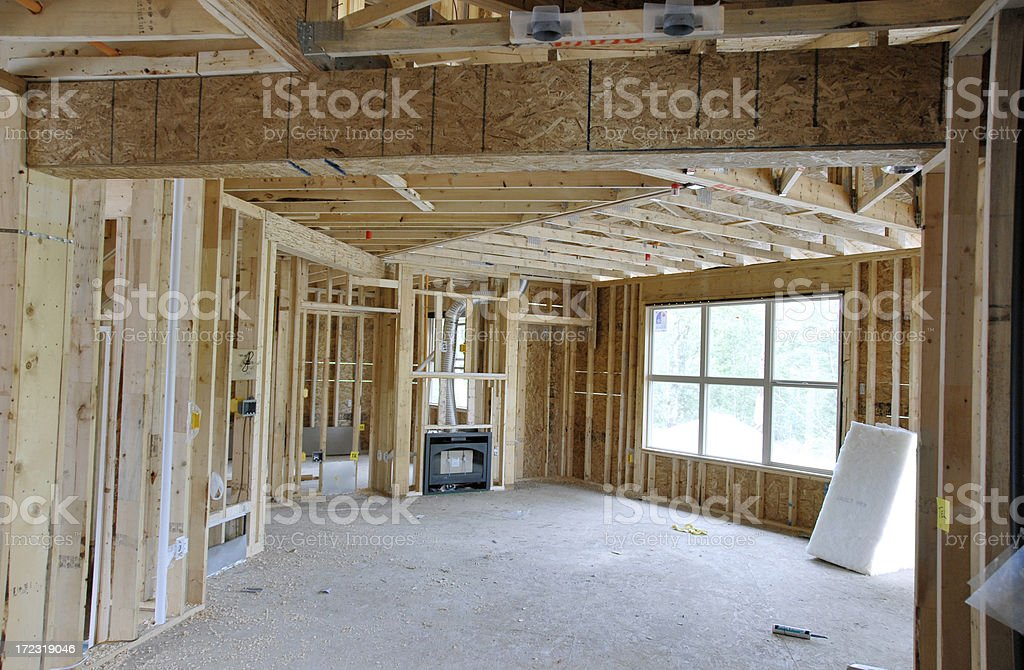 House Under Construction stock photo