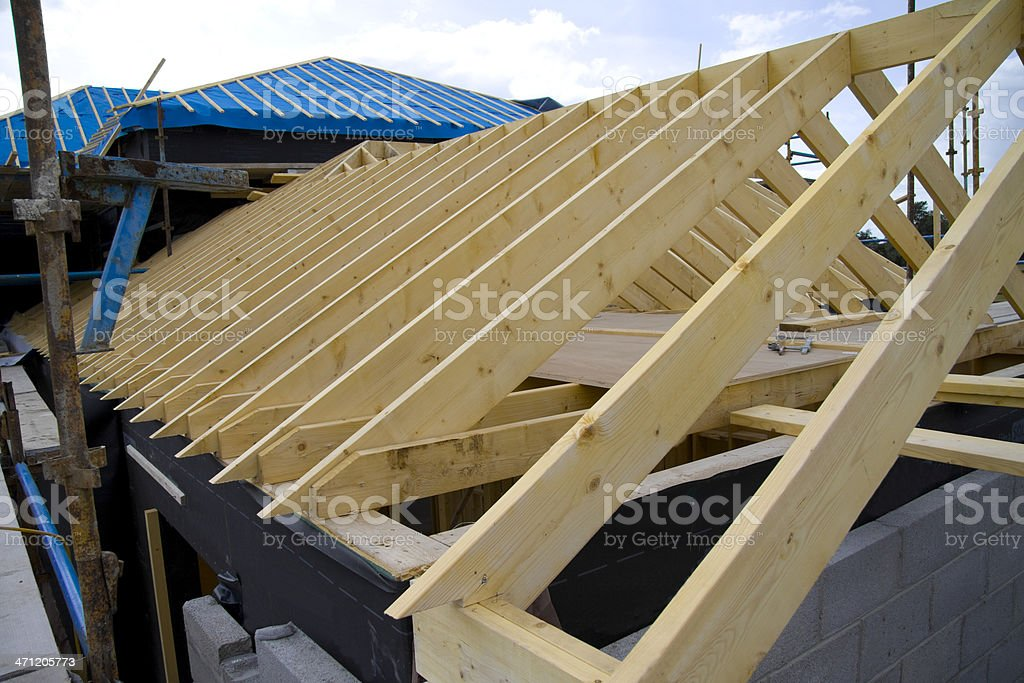 House under Construction royalty-free stock photo