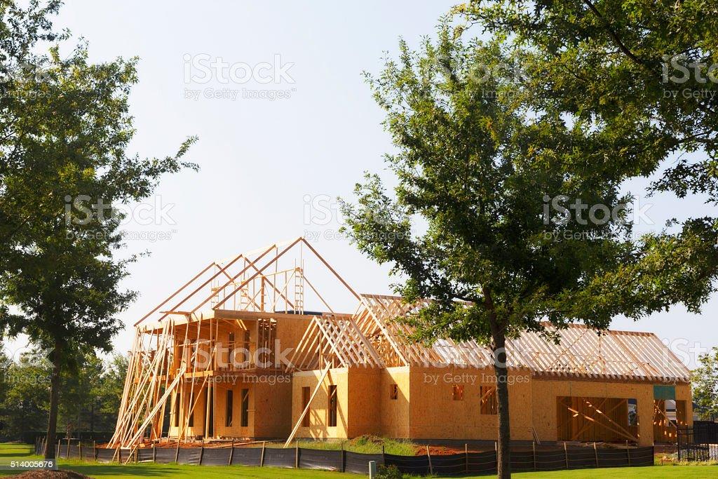 House under construction. stock photo