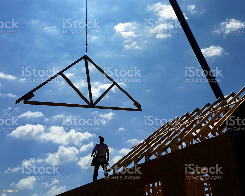 House under construction. stock photo