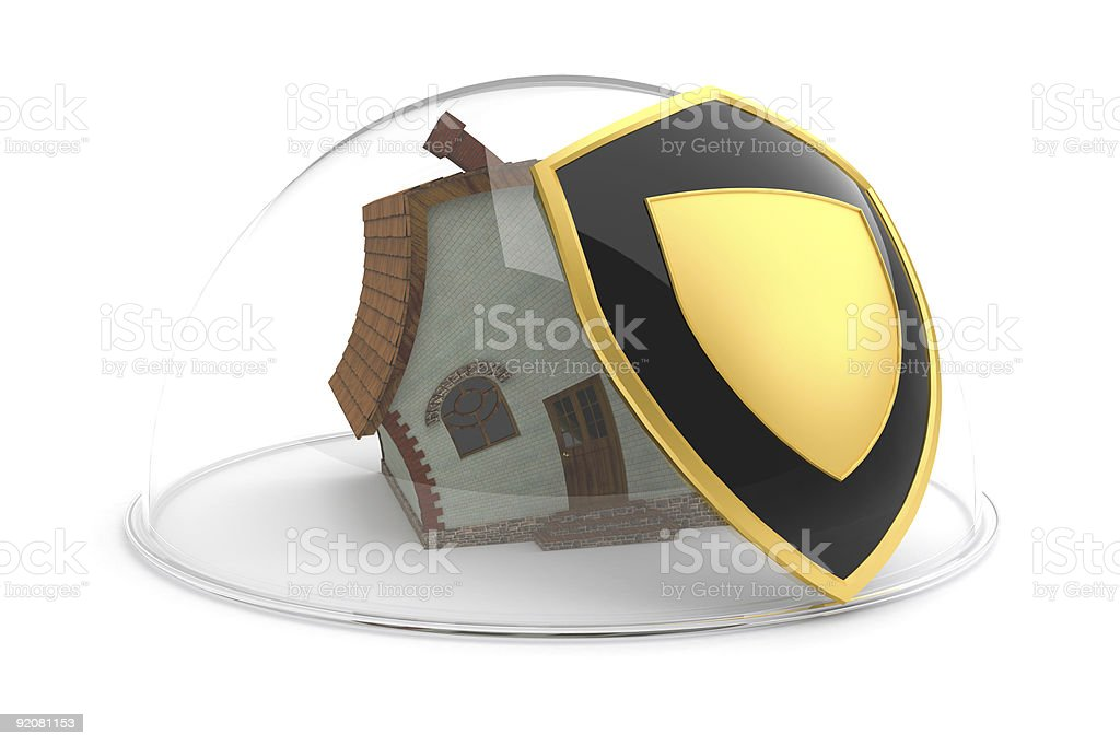 House under protection concept royalty-free stock photo