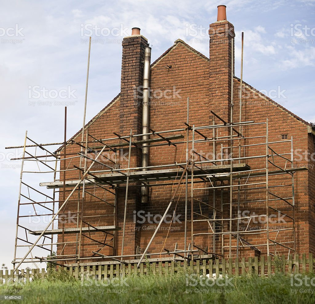 House under Repair royalty-free stock photo
