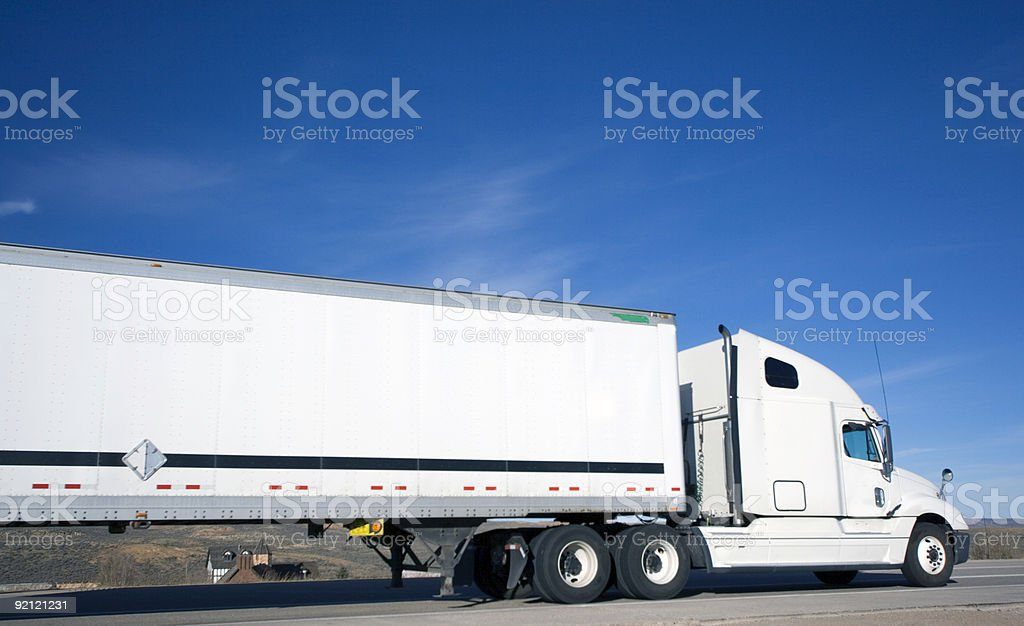 House under Truck royalty-free stock photo