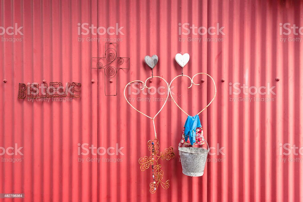 House Wall Outside Decor Signs stock photo